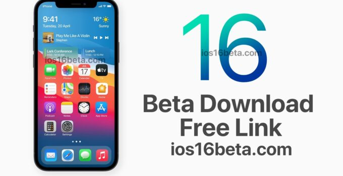 iOS 16 Beta Download Free Link