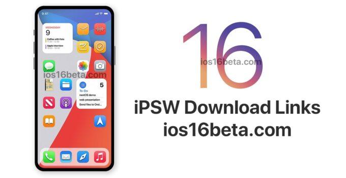 iOS 16 Beta iPSW Download Links